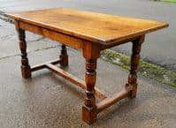 Heavy Oak Refectory Oak Dining Table to Seat Six